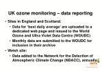 uk ozone monitoring data reporting