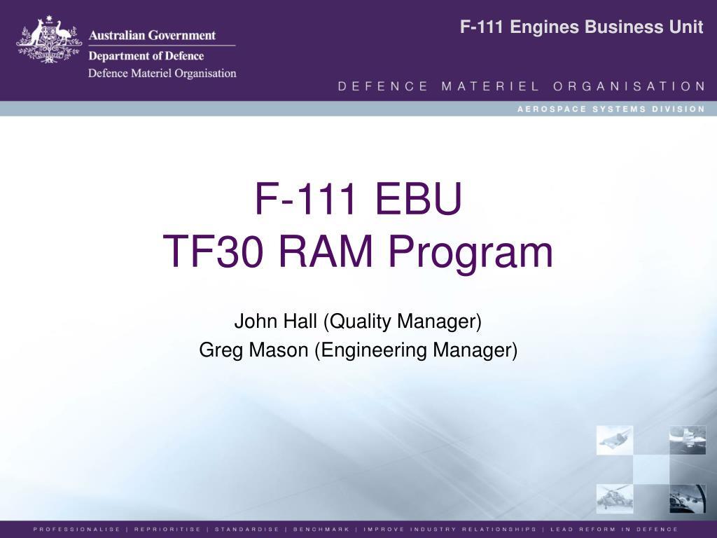 f 111 ebu tf30 ram program l.