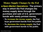 money supply changes by the fed