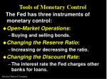 tools of monetary control