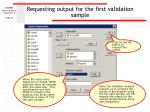requesting output for the first validation sample76