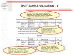 split sample validation 1