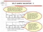split sample validation 383