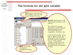 the formula for the split variable70
