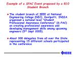 example of a spac event proposed by a r10 student branch