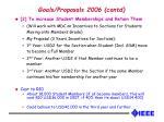 goals proposals 2006 contd
