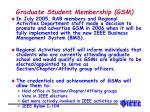 graduate student membership gsm