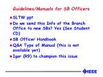 guidelines manuals for sb officers