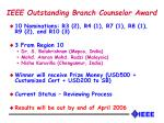 ieee outstanding branch counselor award