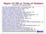region 10 sbs in terms of numbers