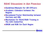rsac discussions in san francisco