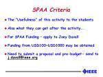 spaa criteria