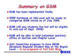 summary on gsm