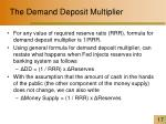 the demand deposit multiplier17