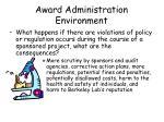 award administration environment8