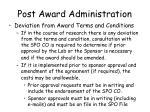 post award administration