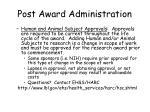 post award administration26