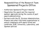 responsibilities of the research team sponsored projects office14