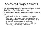sponsored project awards