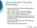 sponsored projects post award administration53