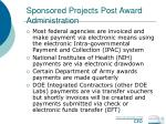 sponsored projects post award administration54
