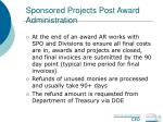 sponsored projects post award administration55