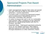 sponsored projects post award administration61