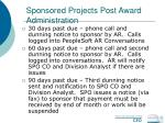 sponsored projects post award administration62
