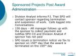 sponsored projects post award administration64