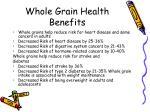 whole grain health benefits