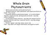 whole grain phytonutrients