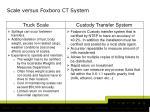 scale versus foxboro ct system