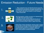 emission reduction future needs