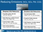 reducing emissions nox sox pm co2