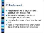 columbia cont