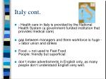 italy cont