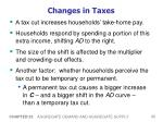 changes in taxes