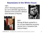 keynesians in the white house
