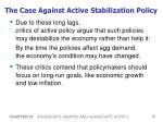 the case against active stabilization policy75