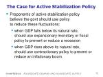 the case for active stabilization policy72