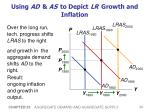 using ad as to depict lr growth and inflation