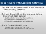does it work with learning gateway