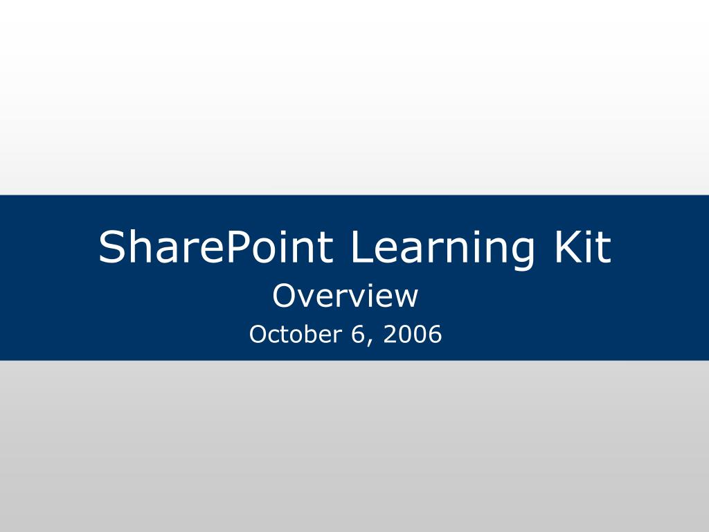 sharepoint learning kit l.