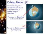 orbital motion 2