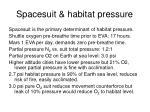 spacesuit habitat pressure