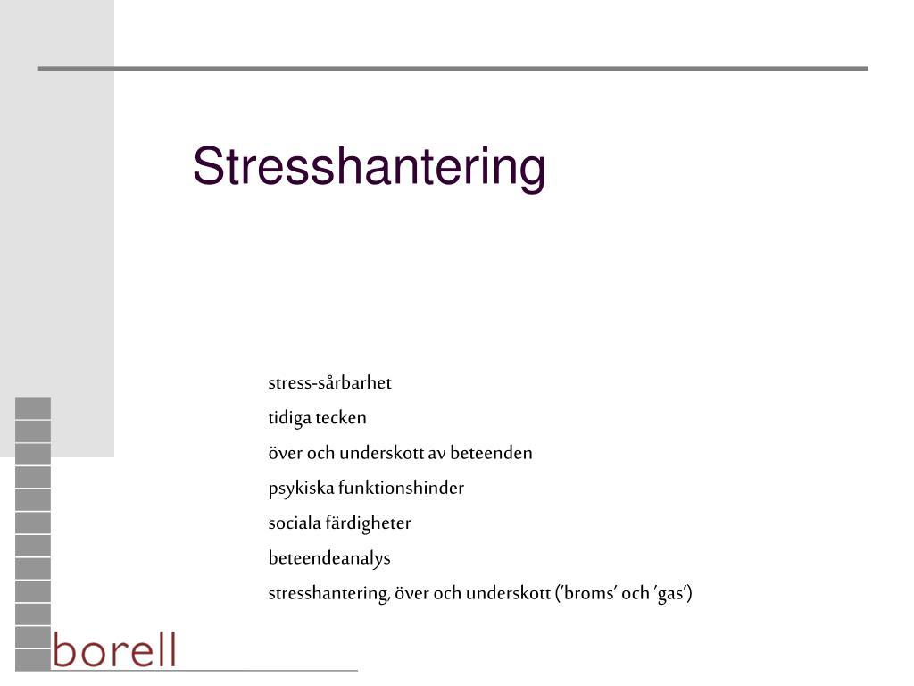 stresshantering l.