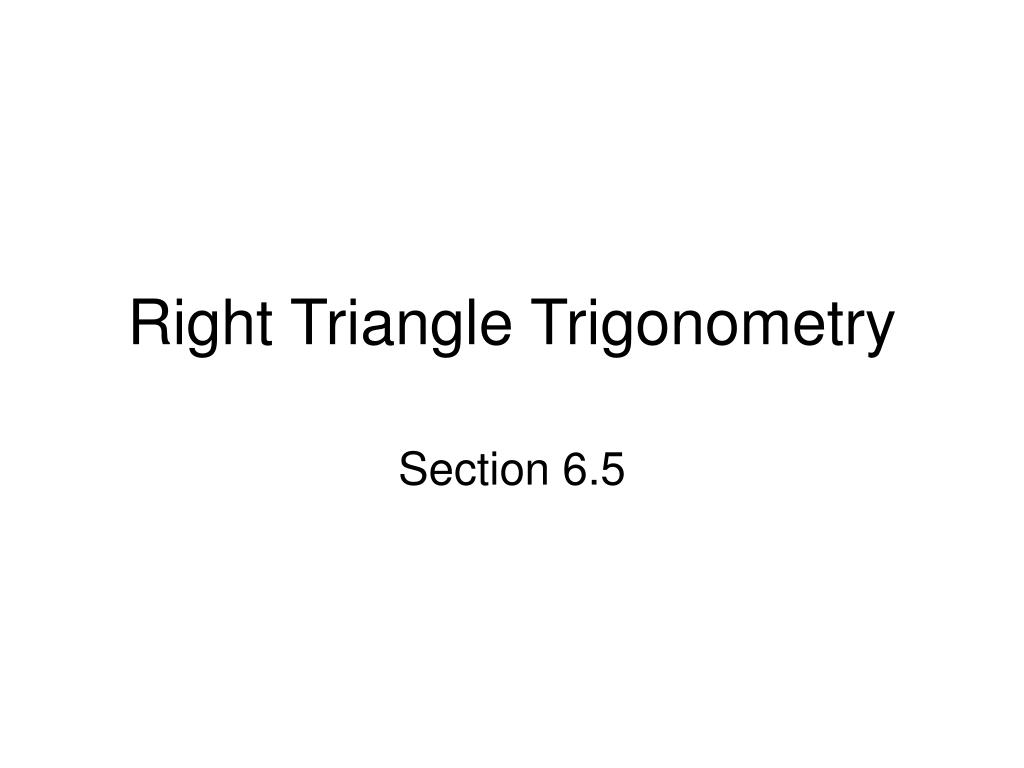 right triangle trigonometry l.