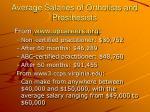 average salaries of orthotists and prosthesists