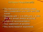 entrance requirements8