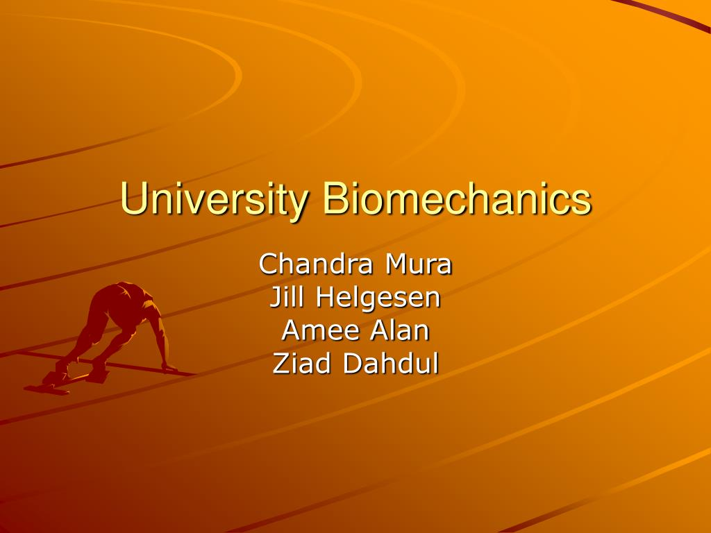 university biomechanics l.